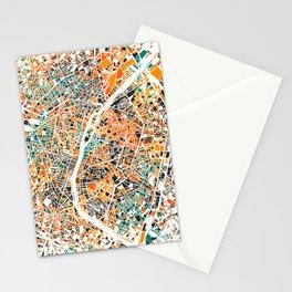 Paris mosaic map #3 Stationery Cards