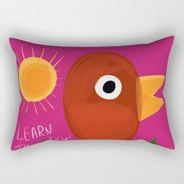 Illustration art for children bird is learning to fly Rectangular Pillow