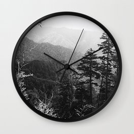 B&W Mt. Leconte Wall Clock