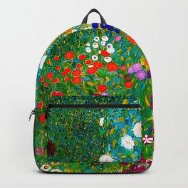 Gustav Klimt - Flower Garden Backpack
