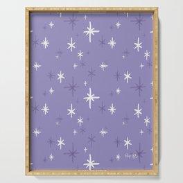 Stars Pattern - Lavender Palette Serving Tray