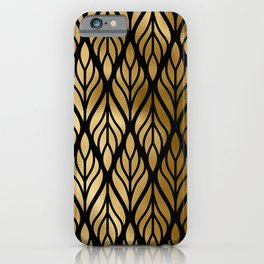 Havana Sultry Night Gold and Black Art Deco iPhone Case