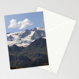 Alpine Ridge Alps Mountains Snow Peak Landscape Stationery Cards