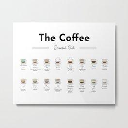 Coffee Essential Guide Horizontal Metal Print