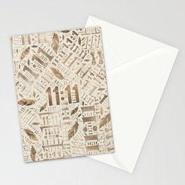 Eleven Eleven Numerology Pattern Angel Feathers #3 Stationery Cards
