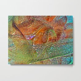Colorful Textured Abstract Metal Print
