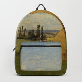 The Haystack Pontoise 1873 By Camille Pissarro | Reproduction | Impressionism Painter Backpack