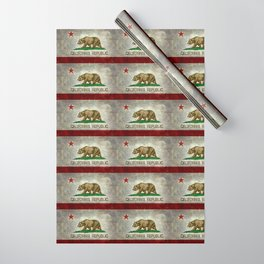 California Republic state flag Vintage Wrapping Paper