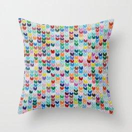 Confetti Polka Daub Hearts Throw Pillow