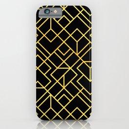 South Beach Art Deco Pattern iPhone Case