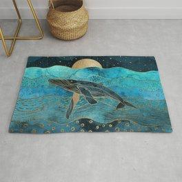 Oceanic Night Whale Blues Rug