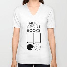 Talk About Books (Mix) Unisex V-Neck