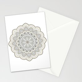 Beige Mandala Art Natural Colorings Stationery Cards