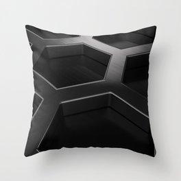 Brushed metal hexagon grille Throw Pillow