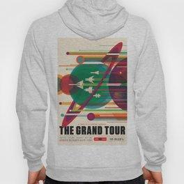 NASA Retro Space Travel Poster The Grand Tour Hoodie