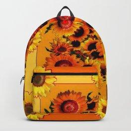 ORANGE YELLOW SUNFLOWERS ART Backpack