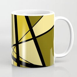 Mikado gold yellow triangles graphic Design Geo Coffee Mug
