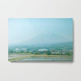 Mount Fuji in the Shizuoka Countryside Metal Print