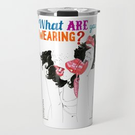 NUDEGRAFIA - 53 what are you wearing? Travel Mug