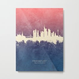 Frankfurt Germany Skyline Metal Print