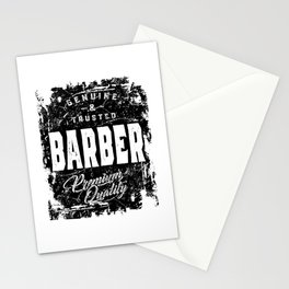 Genuine and Trusted Barber Job Title Gift Stationery Cards