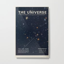 THE UNIVERSE - Space | Time | Stars | Galaxies | Science | Planets | Past | Love | Design Metal Print