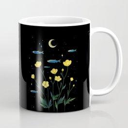 Flowers and Fish Coffee Mug