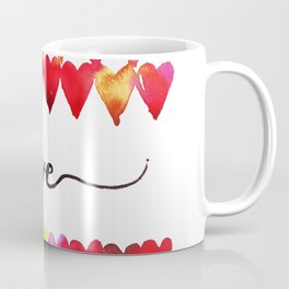 Love Hearts Watercolor Coffee Mug
