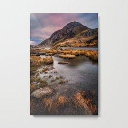 Tryfan Mountain Wales Metal Print