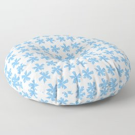 from a true flower 6 blue Floor Pillow