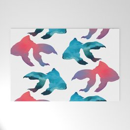 Pattern Oil Painting Abstract Tropical Fish Welcome Mat