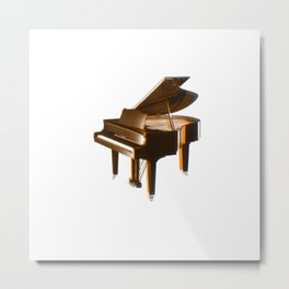 The piano orange Metal Print