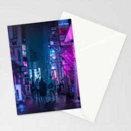Neo Future Tokyo Cyberpunk Stationery Cards