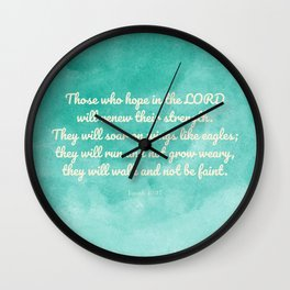 Hope in the Lord Bible Verse, Isaiah 40:31 Wall Clock