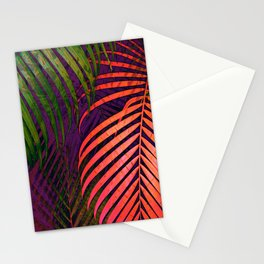 COLORFUL TROPICAL LEAVES no1 Stationery Cards