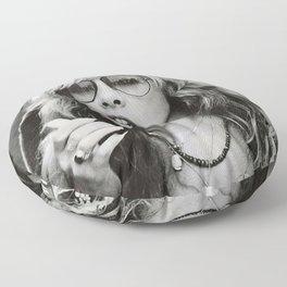 Stevie Nicks Young Black and white Retro Silk Poster Frameless Art Print Floor Pillow
