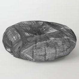 Black and white forest - North Kessock, Highlands, Scotland Floor Pillow