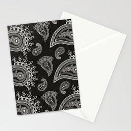 Paisley Neck Gator Bandana Look Paisley Black and White Stationery Cards