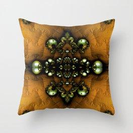 Regal Brooch Yellow Throw Pillow