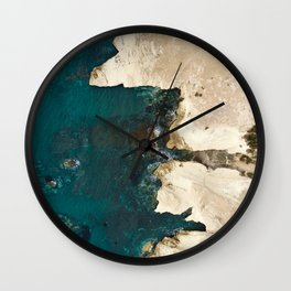 White rocks from above Wall Clock