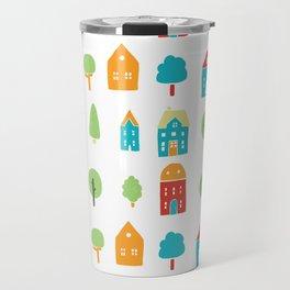 Trees and houses Travel Mug