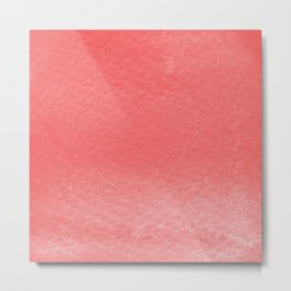 Gradient watercolor - red Metal Print