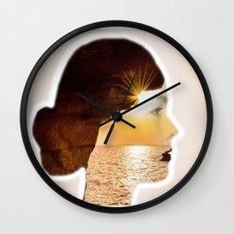Double Exposured Wall Clock