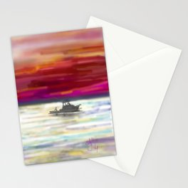 Fishing in Neon Stationery Cards