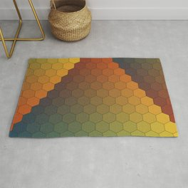 Lichtenberg-Mayer Colour Triangle vintage variation, Remake of Mayers original idea of 12 chambers Rug