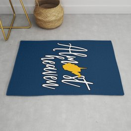 Almost Heaven West Virginia State Map Rug