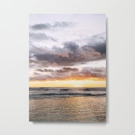 Kauai Hawaii Sunrise Printable Wall Art | Tropical Beach Nature Ocean Coastal Travel Photography Print Metal Print