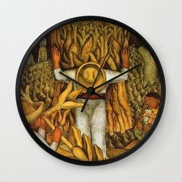 La Fiesta del Maiz by Diego Rivera Wall Clock
