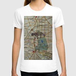 city map with jaguars T-shirt