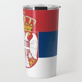 Flag of Serbia - Serbian Flag Travel Mug